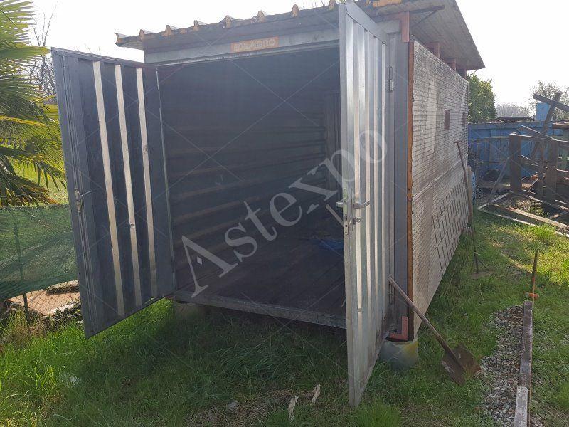 Container In Lamiera Zincata Con Porte A Due Battenti 350 M Aste