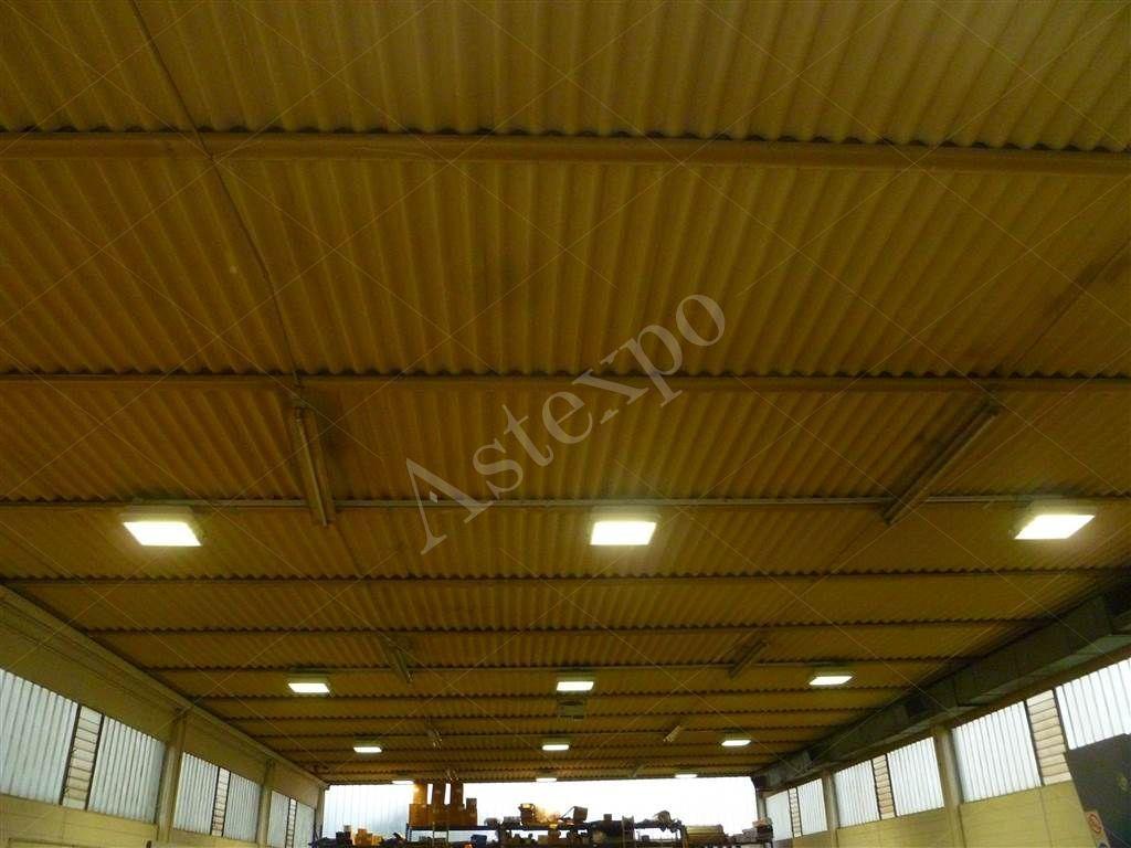 Plafoniere Capannoni : Plafoniere capannoni lampade per industriali a led