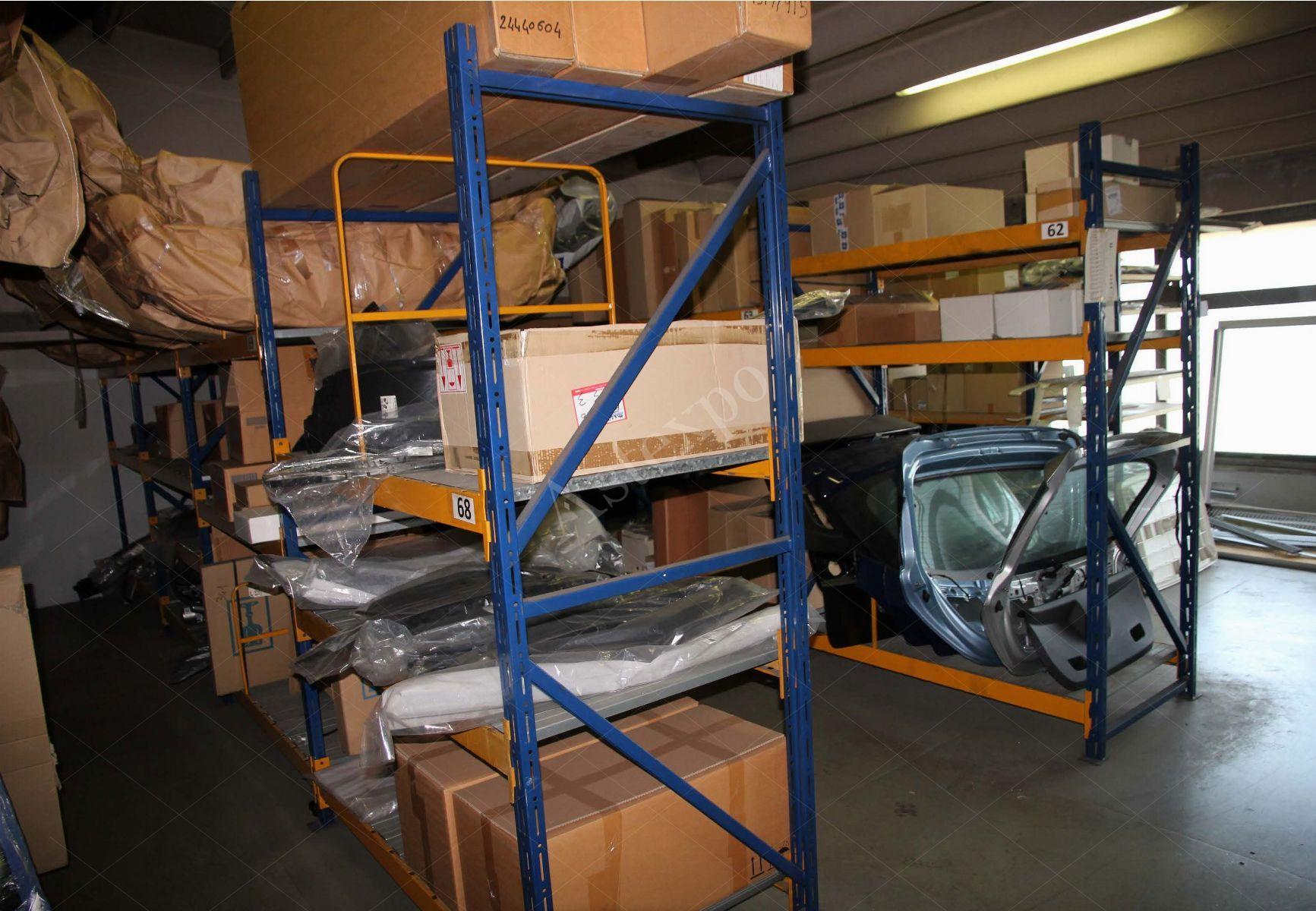 Scaffali in alluminio modulari pesanti blu gialli dim h